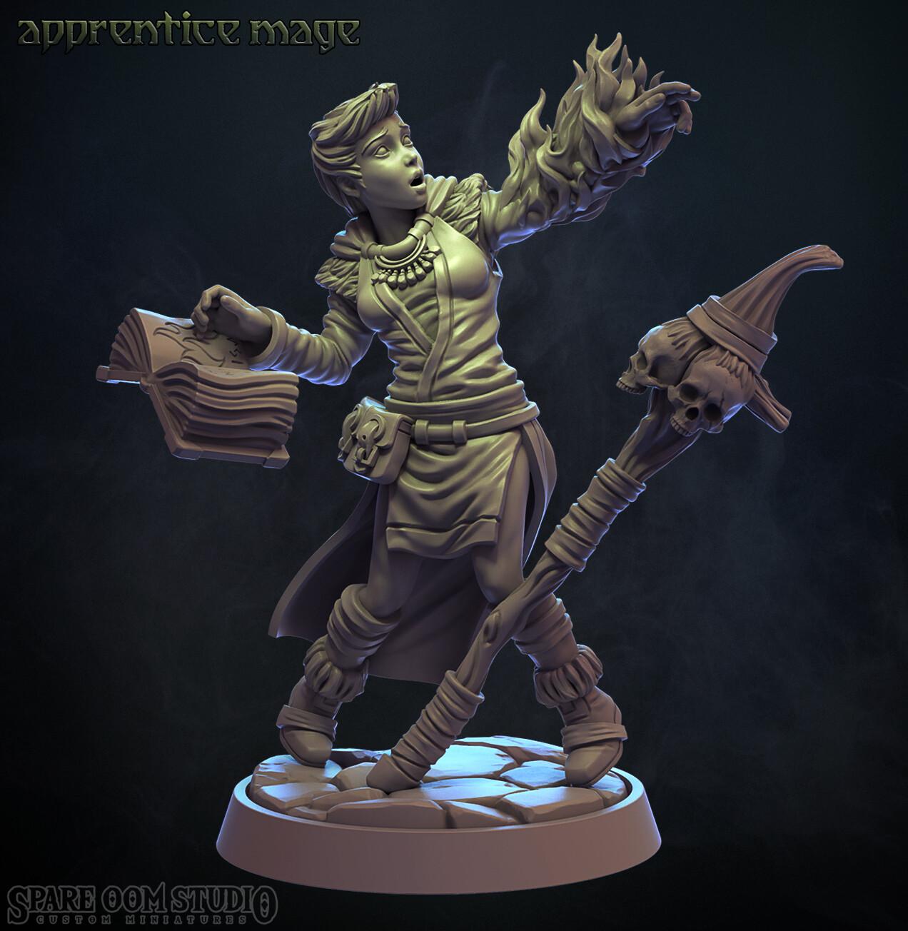 Apprentice Mage - Talisman STL
