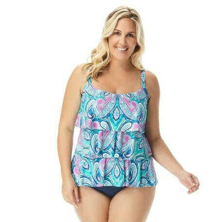 Beach House Jane Ruffle Tankini Plus Size