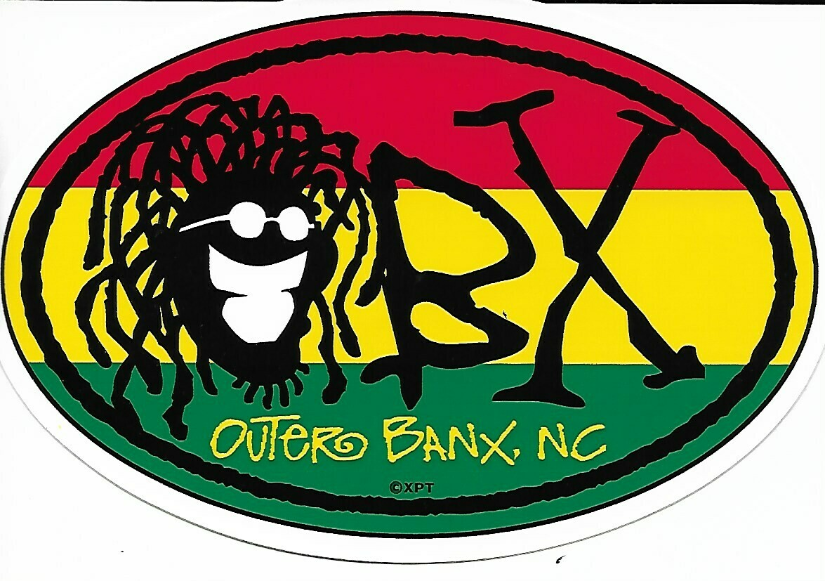 OBX Rasta Sticker