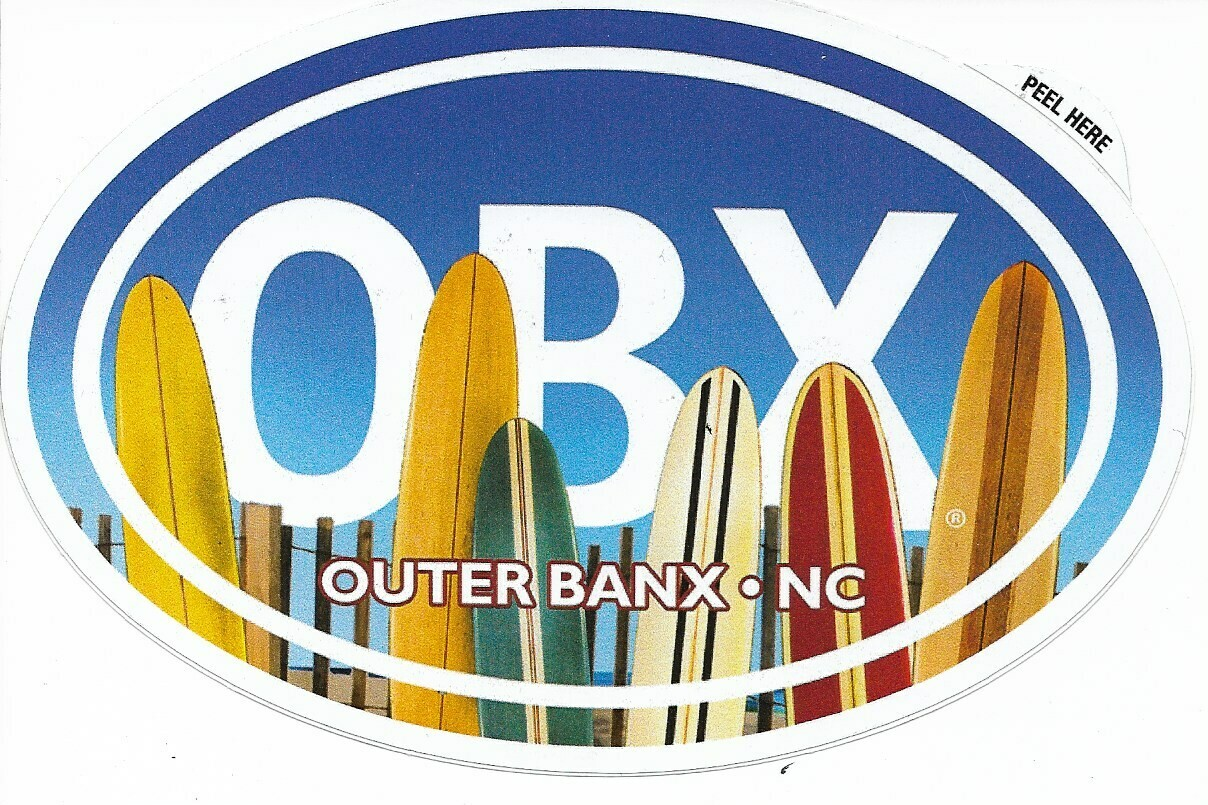 OBX Surfboard Sticker
