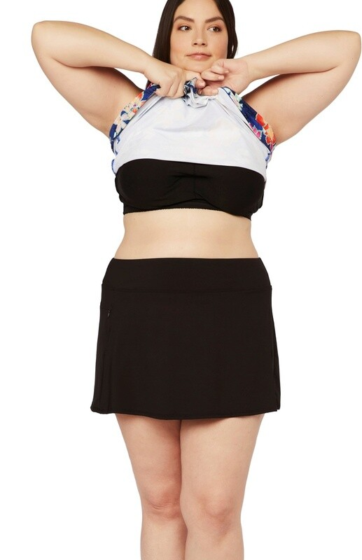 24th & Ocean Solid Swim Skort Plus Size