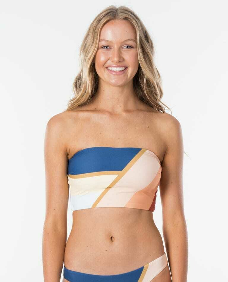 Rip Curl Sunsetters Block Bandeau Top