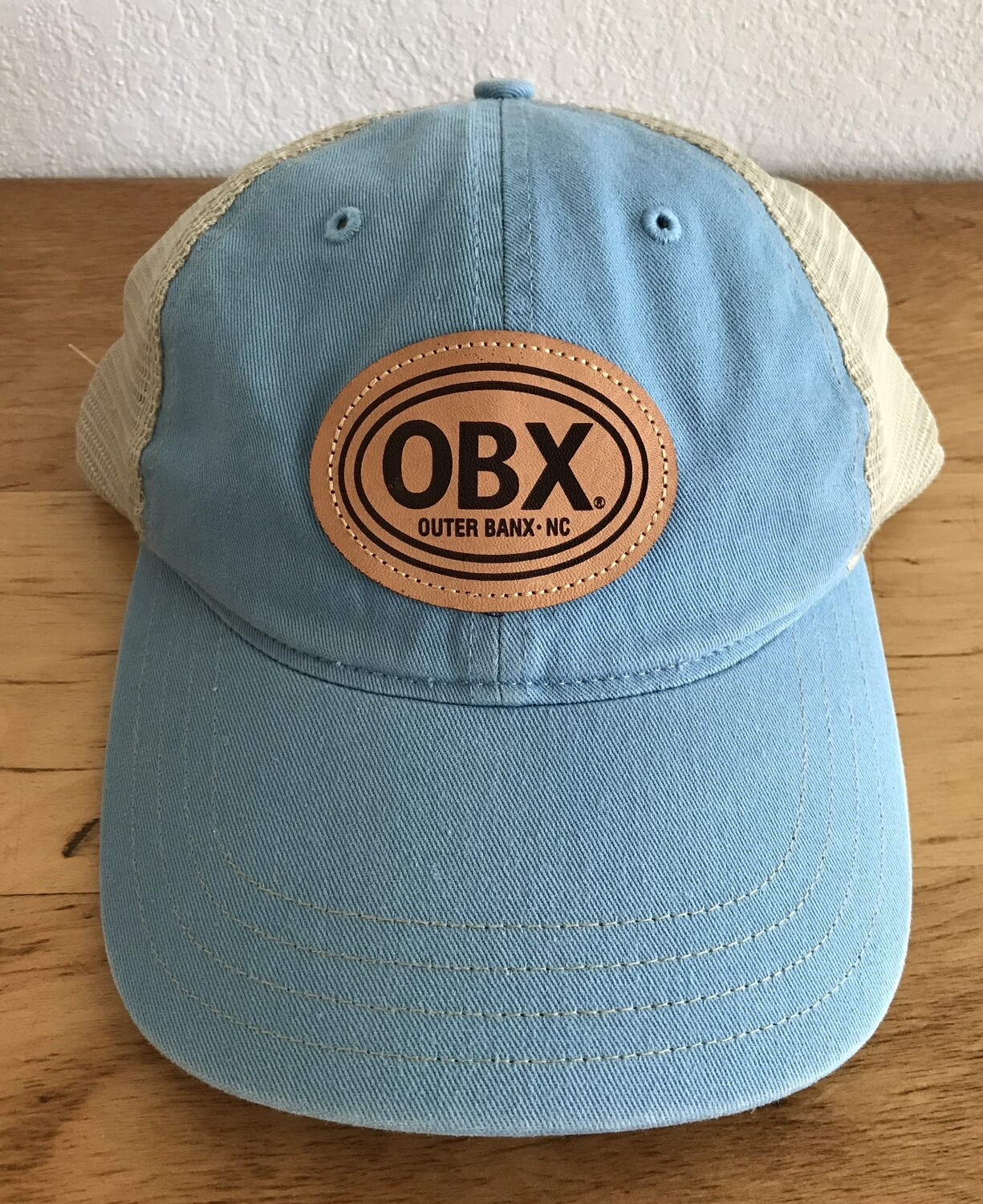 OBX Mesh Back Twill Patch Washed Trucker Hat