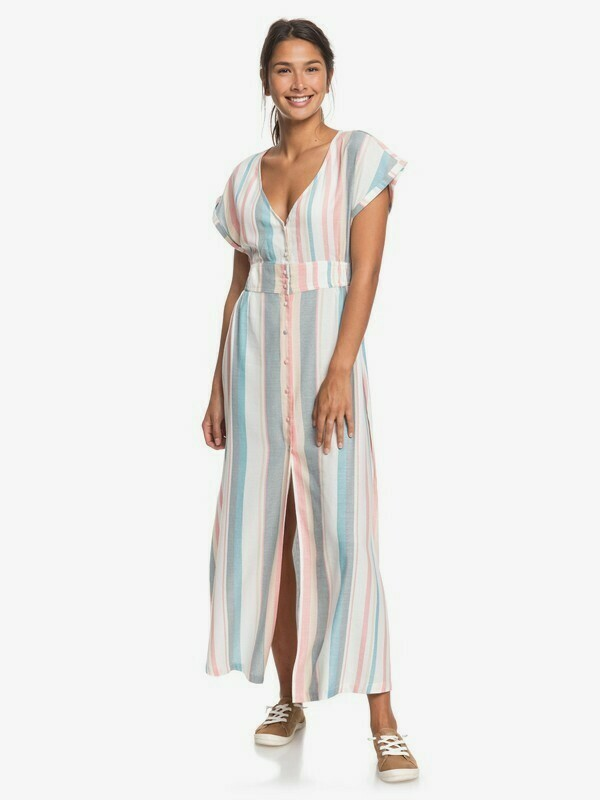 Roxy Furore Lagoon Short Sleeve Maxi Dress