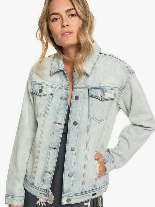 Roxy Denim Midnight Drive Boyfriend Jacket