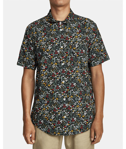 RVCA Costello Floral Button Up Shirt