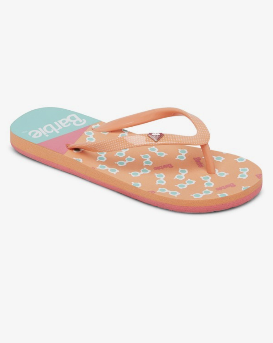 Roxy + Barbie Toddler Pebbles Flip-Flops