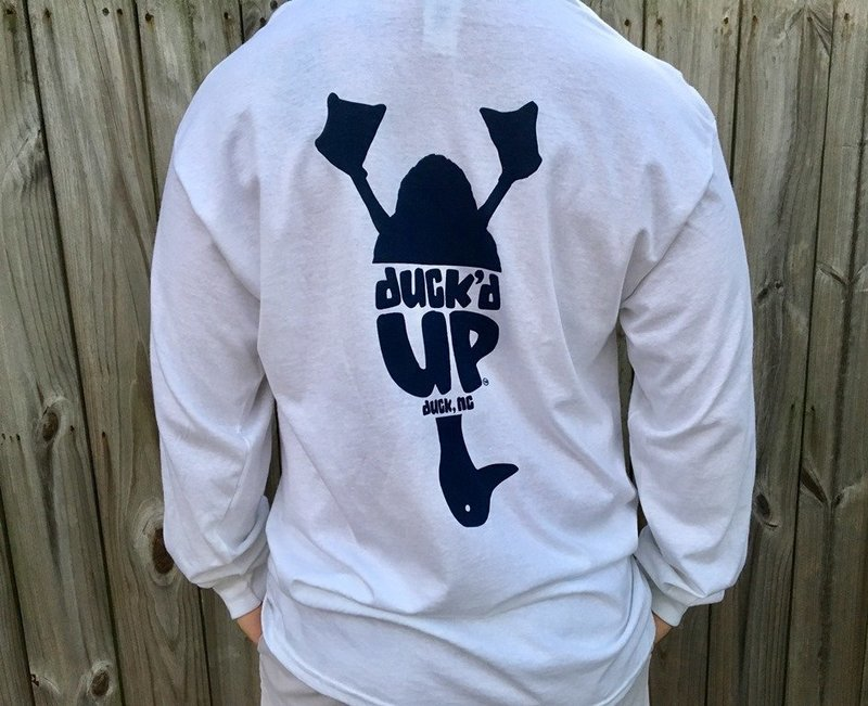 Duck'd Up Long Sleeve Tee White