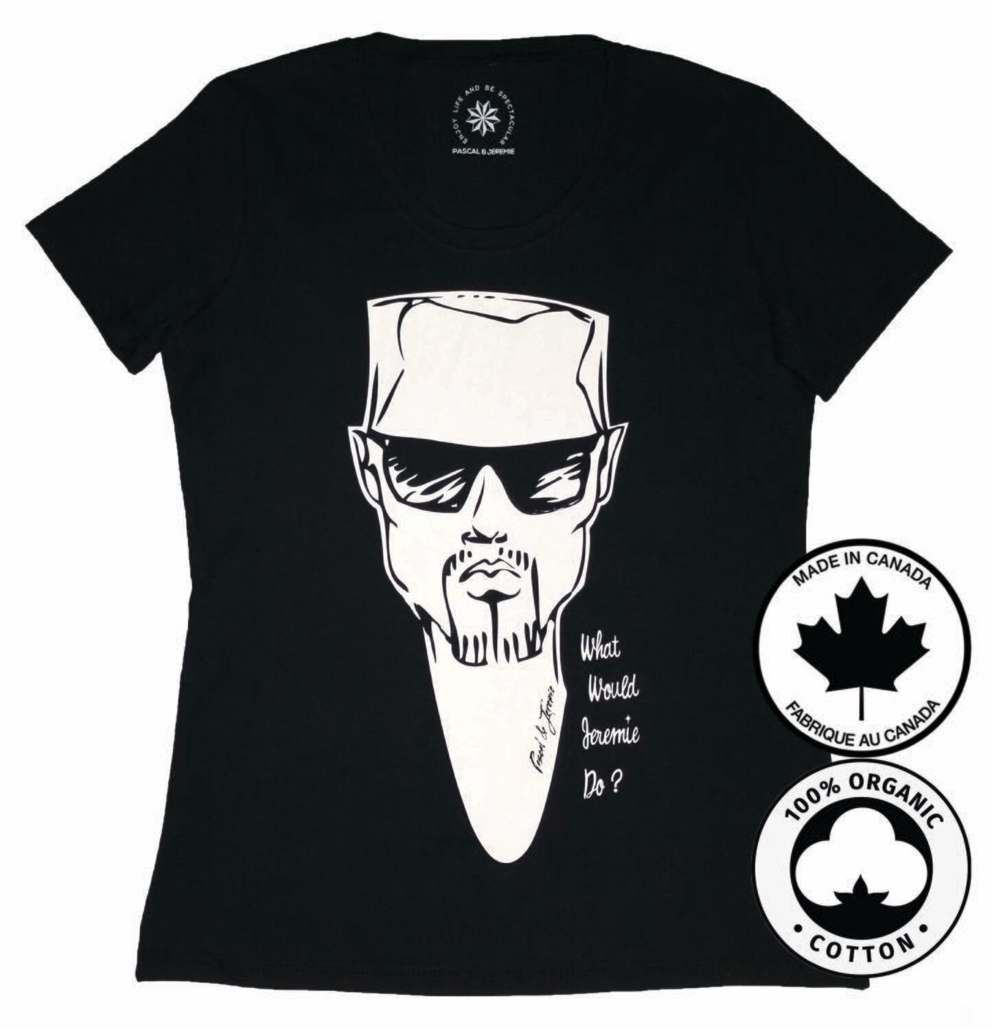 What Would Jeremie Do? Fitted T-shirt