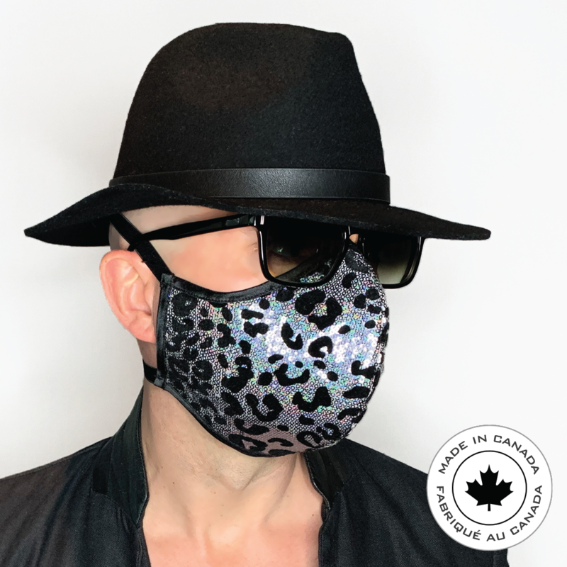 Silver Leopard Limited edition - Pascal & Jeremie's Spectacular Fashion Sequin Mask!