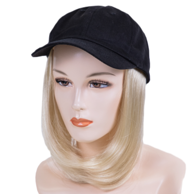 Ball Hat with Sewn In Synthetic Medium Length Hair