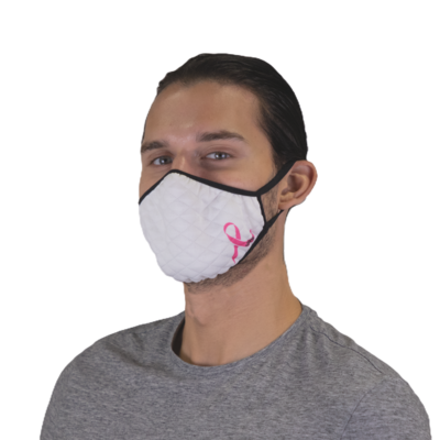 Breast Cancer Ribbon Textured Face Mask