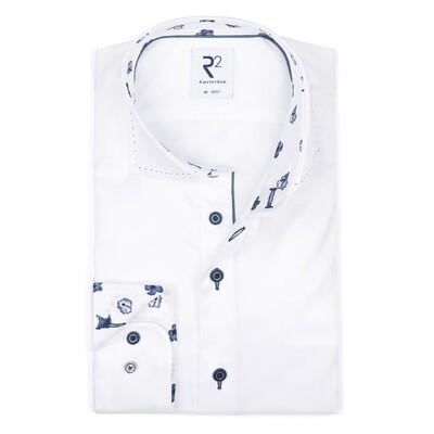 R2 Overhemd 112.WSP.114 wit combi