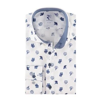 R2 Overhemd 112.WSP.115 blauw
