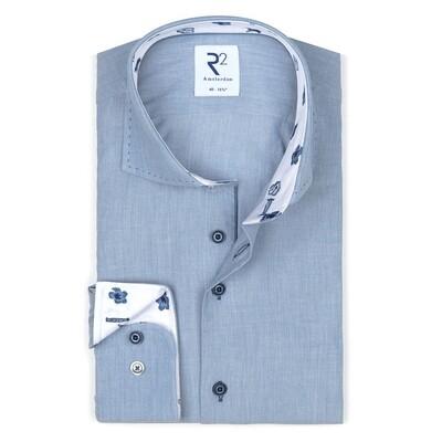 R2 Overhemd 112.WSP.113 licht blauw