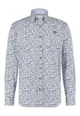 Bluefields Overhemd 21431018 donkerblauw