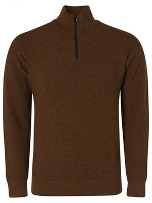 No Excess Pullover Half Zipper 12230807 cognac