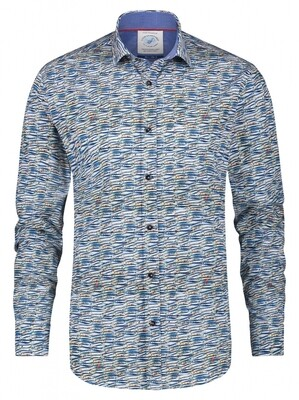 A Fish Named Fred Shirt 23.01.003 blauw