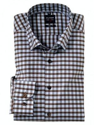 Olymp Overhemd 24/7 Level 5 212484 bruin