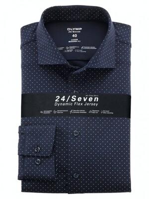 Olymp Overhemd 24/7 Modern Fit 122484 donker blauw