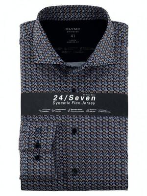 Olymp Overhemd 24/7 Modern Fit 122284 blauw