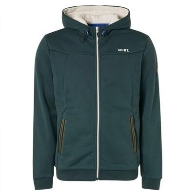 Qubz Sweater Full Zip Hood Q03100923 donker groen