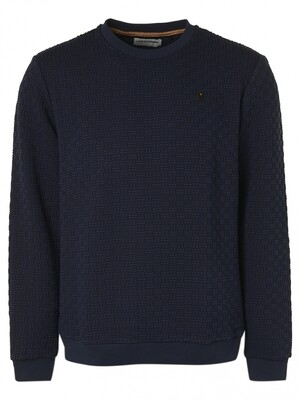 No Excess Sweater 12130901 donker blauw
