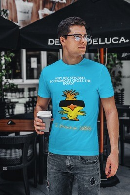 Chicken Economicus Men's Half Sleeve Round Neck T-Shirt
