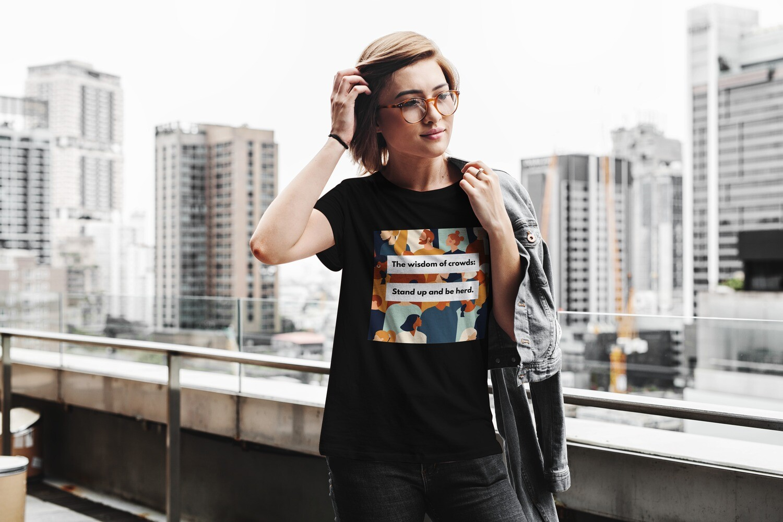 Be Herd Women's Round Neck T-Shirt
