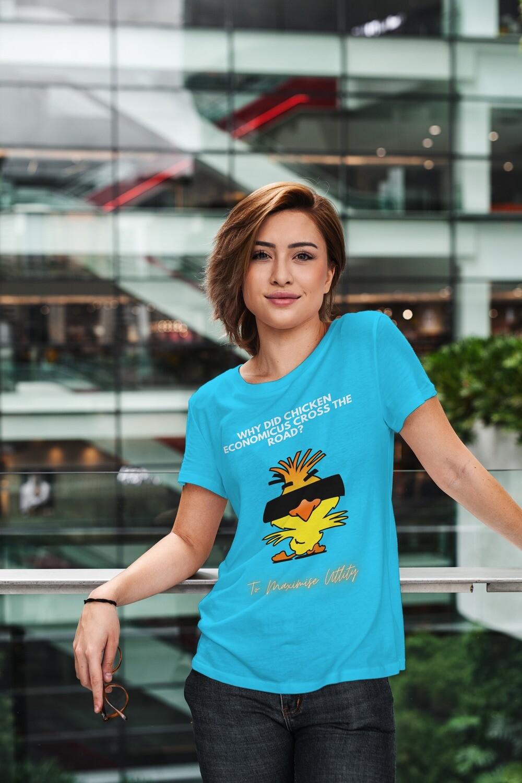 Chicken Economicus Women's Half Sleeve Round Neck T-shirt
