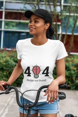 404 Nudge not Found - Half Sleeve Round Neck T-Shirt M/F