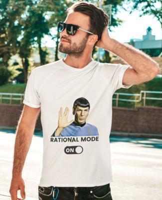 Rational Mode On - Half Sleeve Round Neck T-Shirt M/F