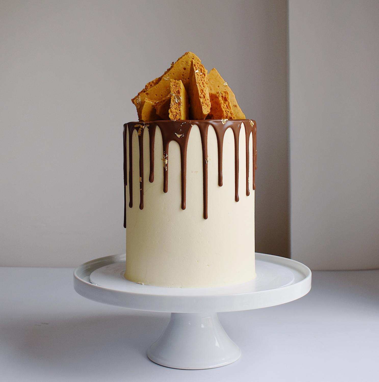 The Honeycomb Drip Cake