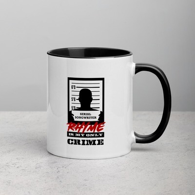 Rhyme is My Only Crime Man Mug with Color Inside