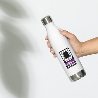 Rhyme is My Crime Stainless Steel Water Bottle (Female)