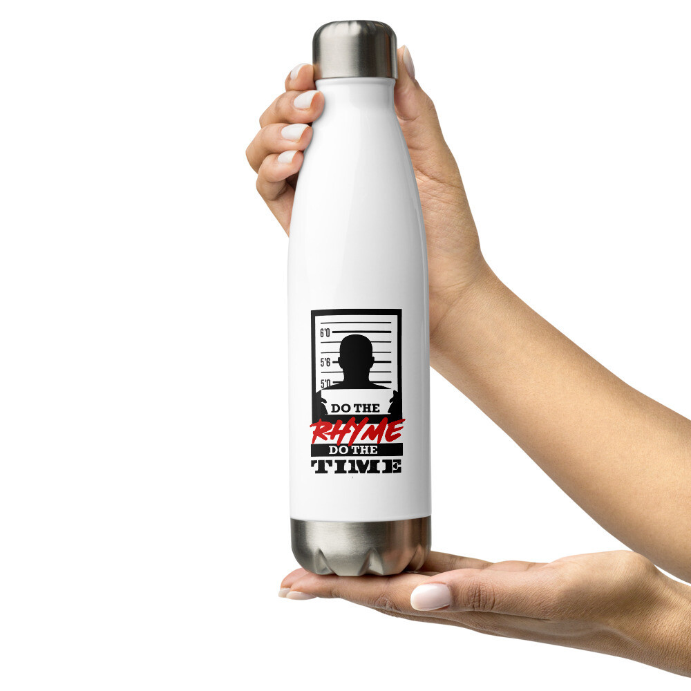 Rhyme is My Only Crime Stainless Steel Water Bottle (Male)