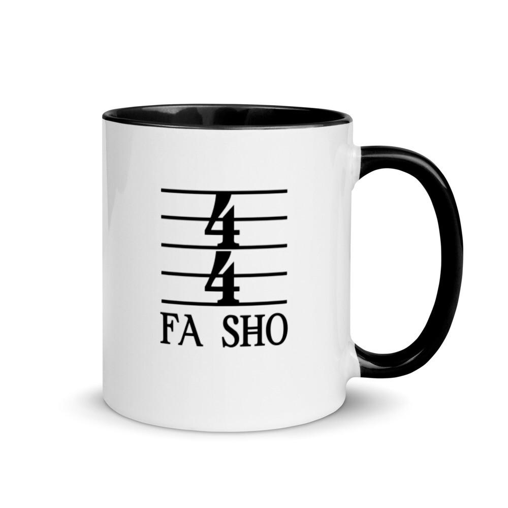 4/4 Fa Sho Mug with Color Inside