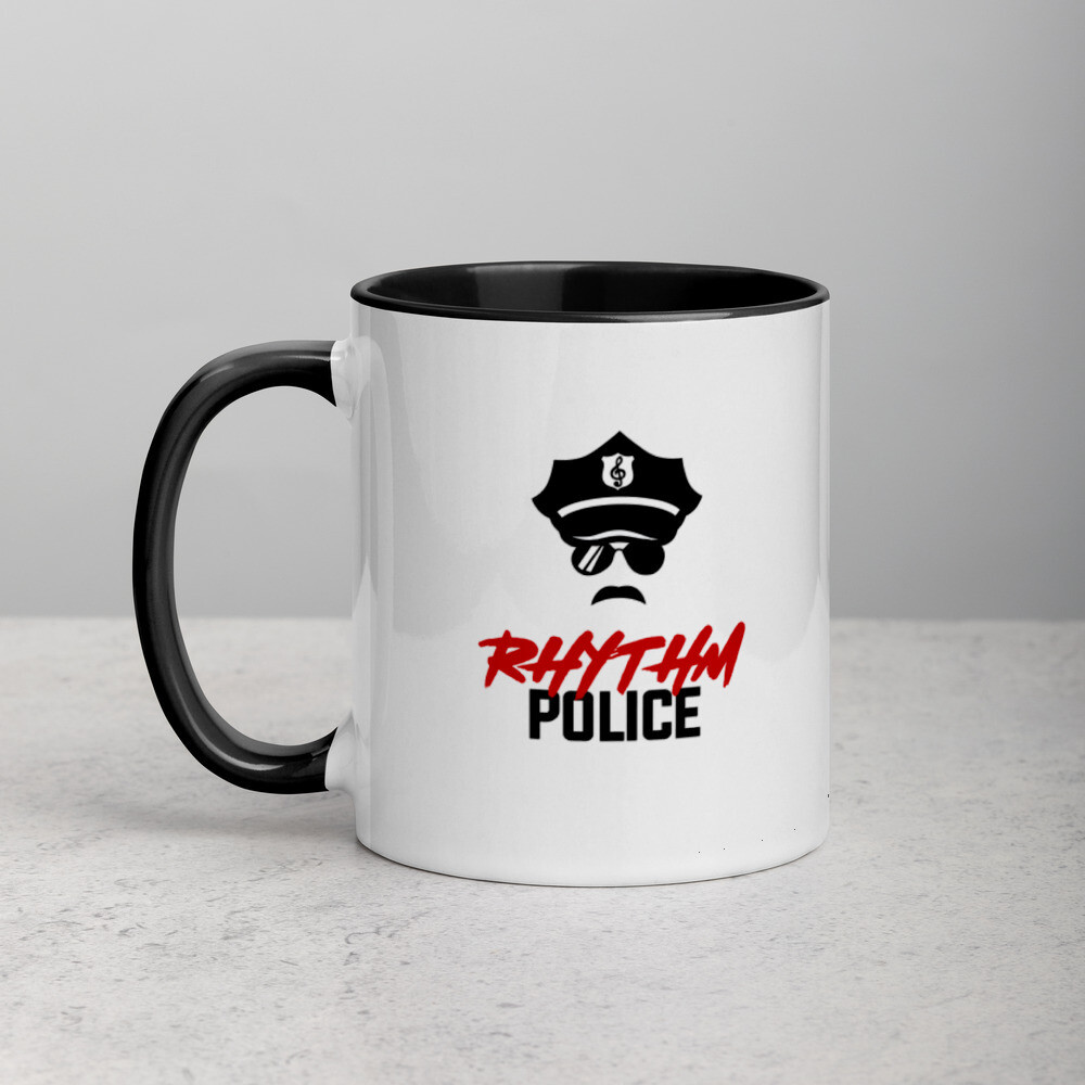 Rhythm Police Mug with Color Inside (Male)
