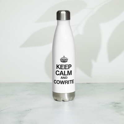 Keep Calm and Cowrite Stainless Steel Water Bottle