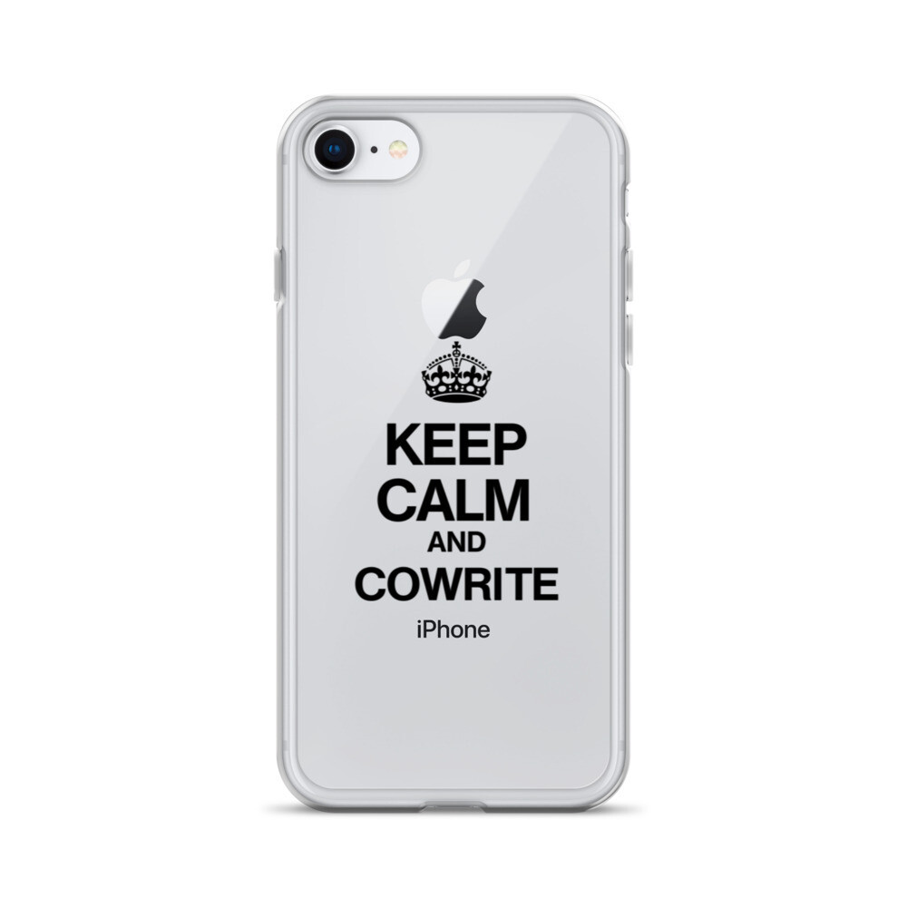 Keep Calm and Cowrite iPhone Case