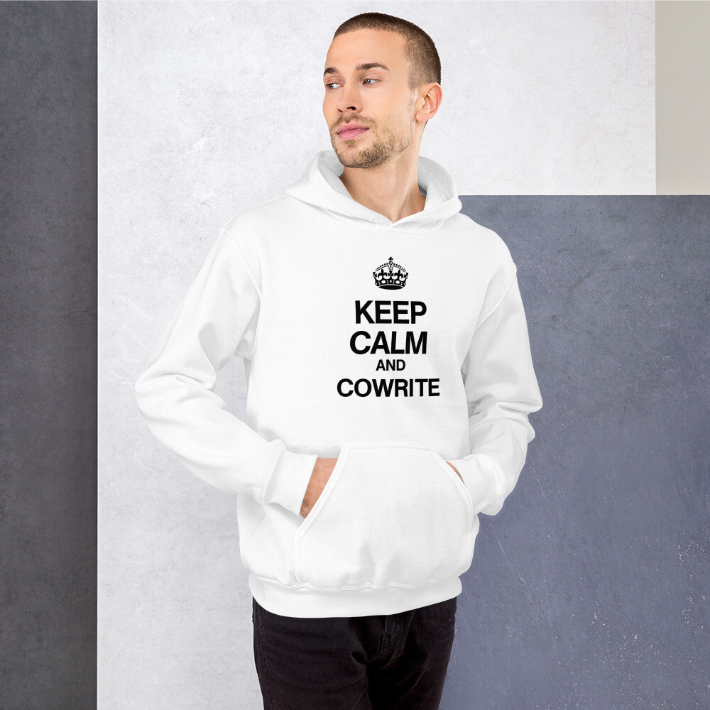 Keep Calm and Cowrite Unisex Hoodie (Light)