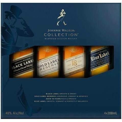 Johnnie Walker Collection 4 pack Gift Set | 200 ML