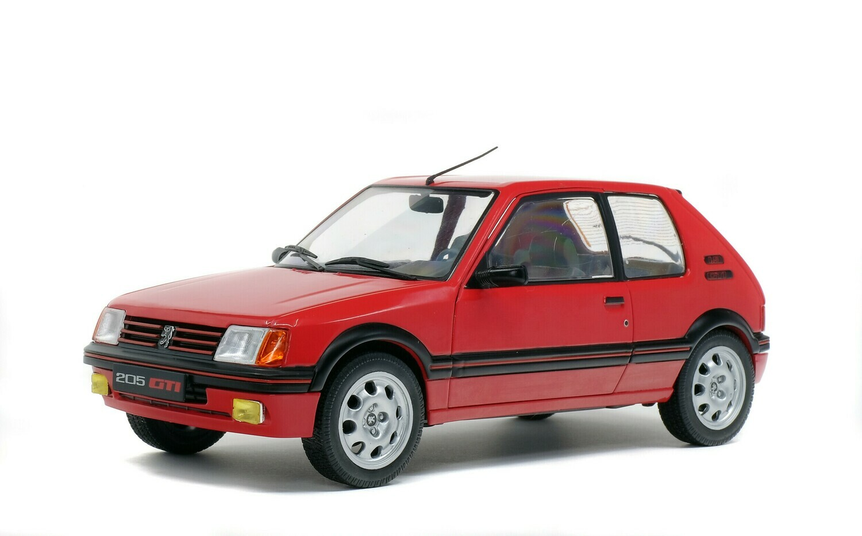 PEUGEOT 205 GTI 1.9L MK 1 – ROUGE VALLELUNGA -1988 - 1/18