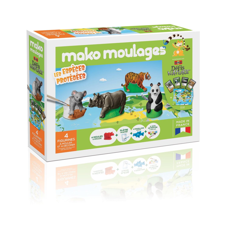 Mako moulages - Les espèces protégées - Coffret 4 moules