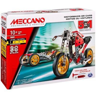 Meccano - Voiture et moto 5 modèles