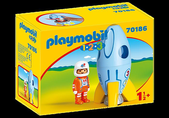 Playmobil 1.2.3 - Fusée et astronaute