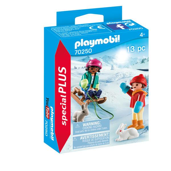 Playmobil Spécial Plus - Enfants avec luge