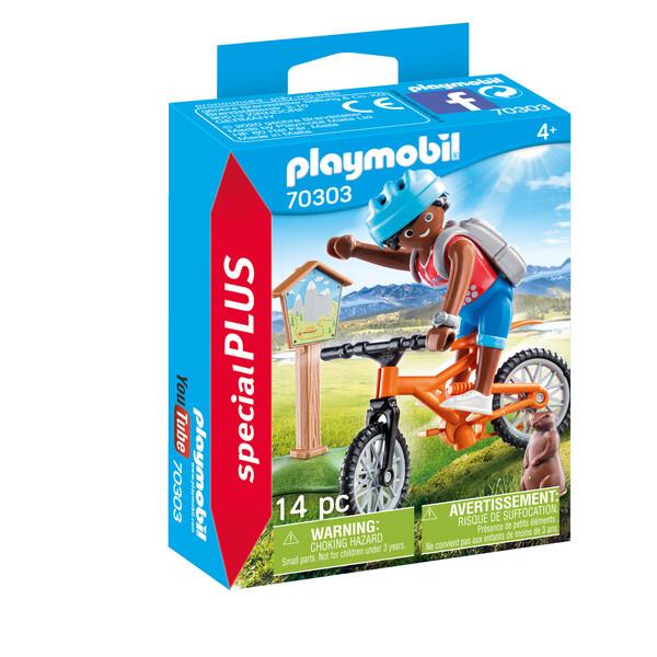 Playmobil Spécial Plus -Cycliste avec marmotte
