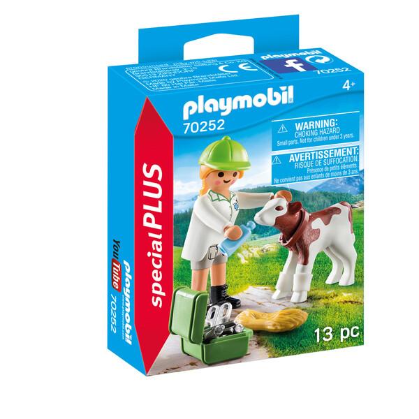 Playmobil Spécial Plus -Vétérinaire et veau