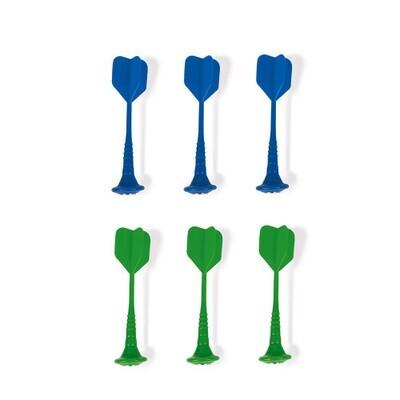 JANOD - Jeu de 6 fléchettes magnétiques (vert et bleu)